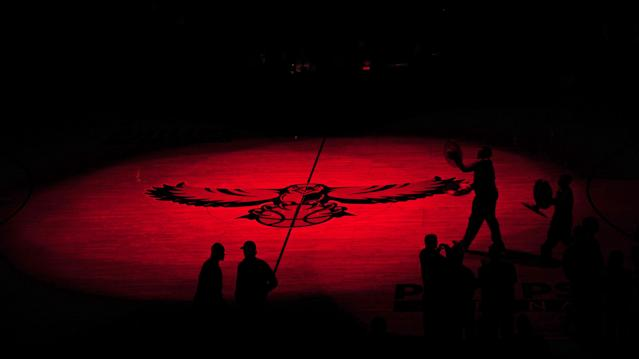 "The <a class=""link rapid-noclick-resp"" href=""/nba/teams/atl/"" data-ylk=""slk:Atlanta Hawks"">Atlanta Hawks</a> are being sued by a former employee. (Getty)"