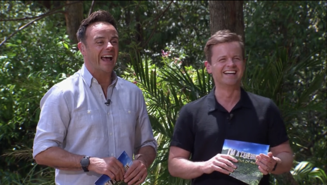 Ant and Dec during a Bushtucker trial with Andrew Maxwell on I'm a Celebrity (ITV)