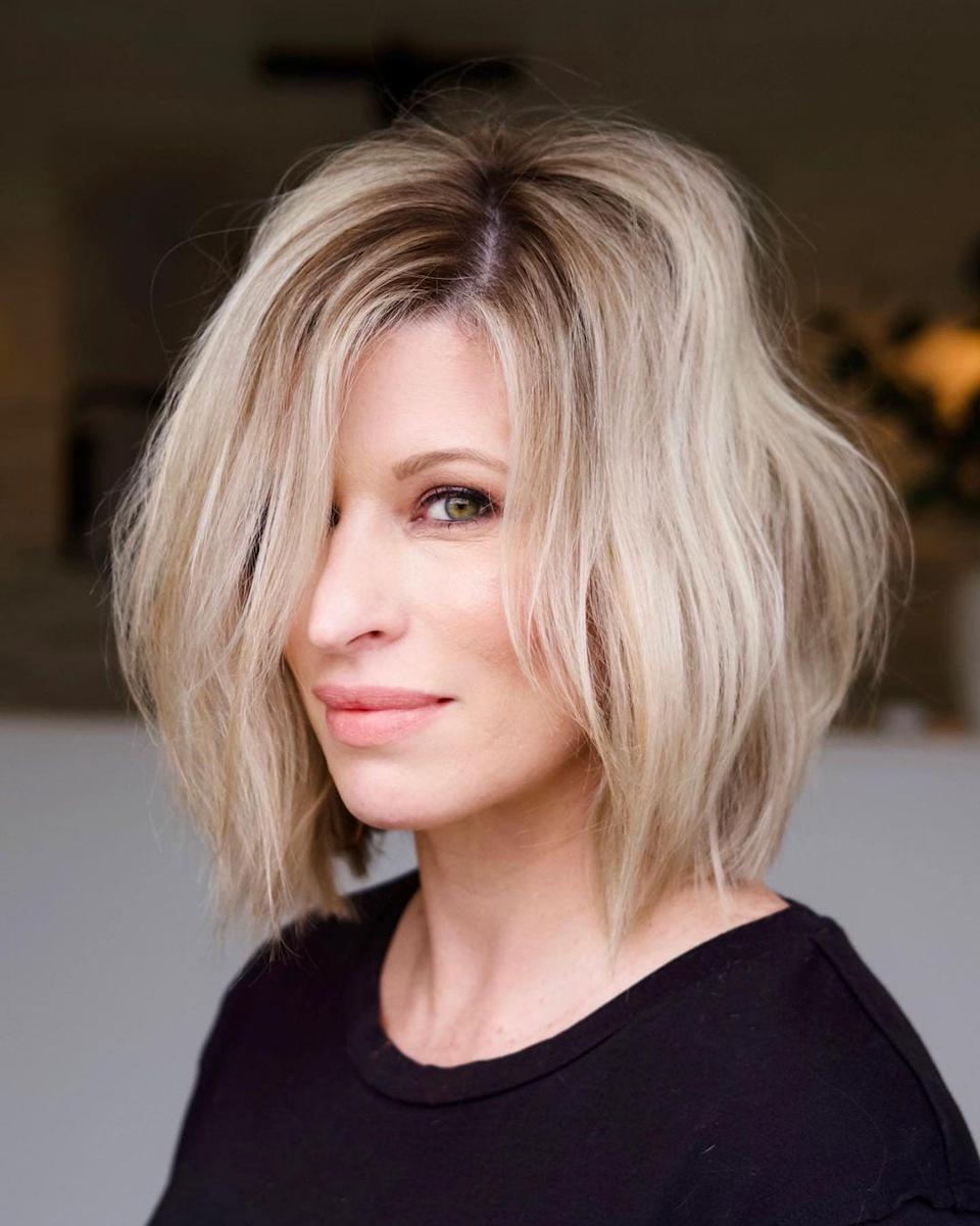 <p>You can have added interest in your hairstyle with movement and volume. This long bob with an undercut is stunning and dramatic enough to add new life to your hairstyle.</p>