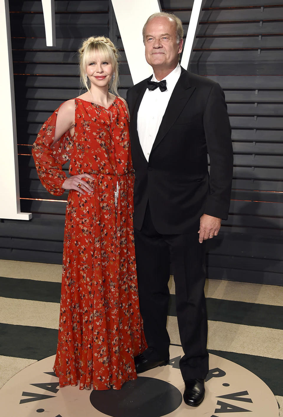 <p>Kelsey Grammer, right, and Kayte Walsh arrive at the Vanity Fair Oscar Party on Sunday, Feb. 26, 2017, in Beverly Hills, Calif. (Photo by Evan Agostini/Invision/AP) </p>