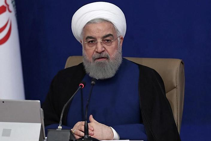 Iranian President Hassan Rouhani at a cabinet meeting in Tehran on Wednesday.