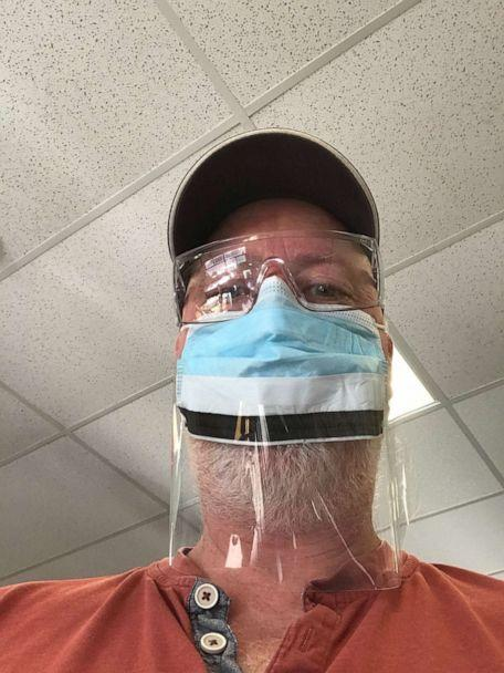PHOTO: Lyall Smith, head of facilities and management at Williston schools in Williston, Vermont, said he and his colleagues have been cleaning and sanitizing doorknobs, carpets, floors, lockers and cubbies amid the novel coronavirus outbreak. (Lyall Smith)