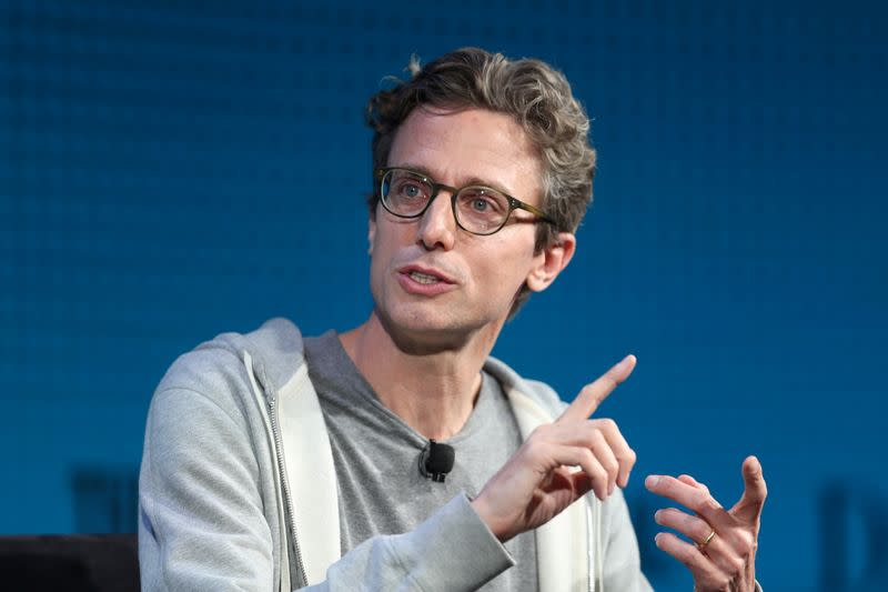 FILE PHOTO: Jonah Peretti, Founder and CEO, Buzzfeed, speaks at the Wall Street Journal Digital Conference in Laguna Beach