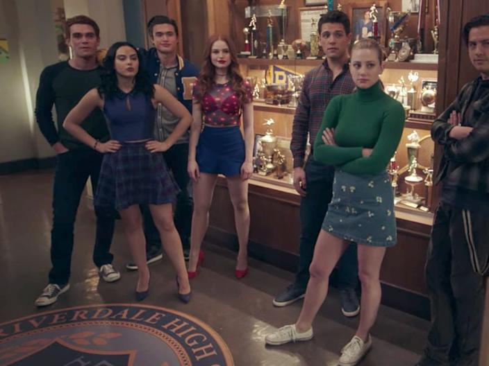 """The fashion on """"Riverdale"""" involves a lot of skirts."""