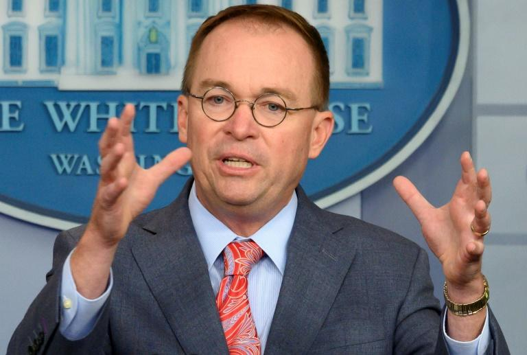 White House Acting Chief of Staff Mick Mulvaney at a White House press briefing October 17, 2019 that proved explosive