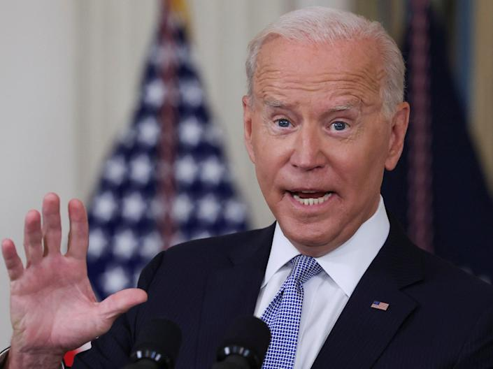 President Joe Biden answers questions from the news media after speaking about coronavirus disease on 24 September 2021 (REUTERS)