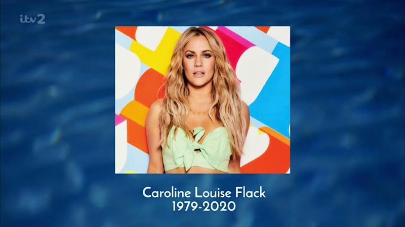 A picture of Caroline was shown at the end of narrator Iain Stirling's tribute (Photo: ITV)