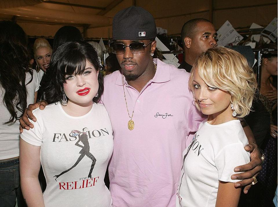 "<p>Kelly Osbourne, Sean ""Diddy"" Combs and Nicole Richie. <i>(Thos Robinson/Getty Images)</i></p>"