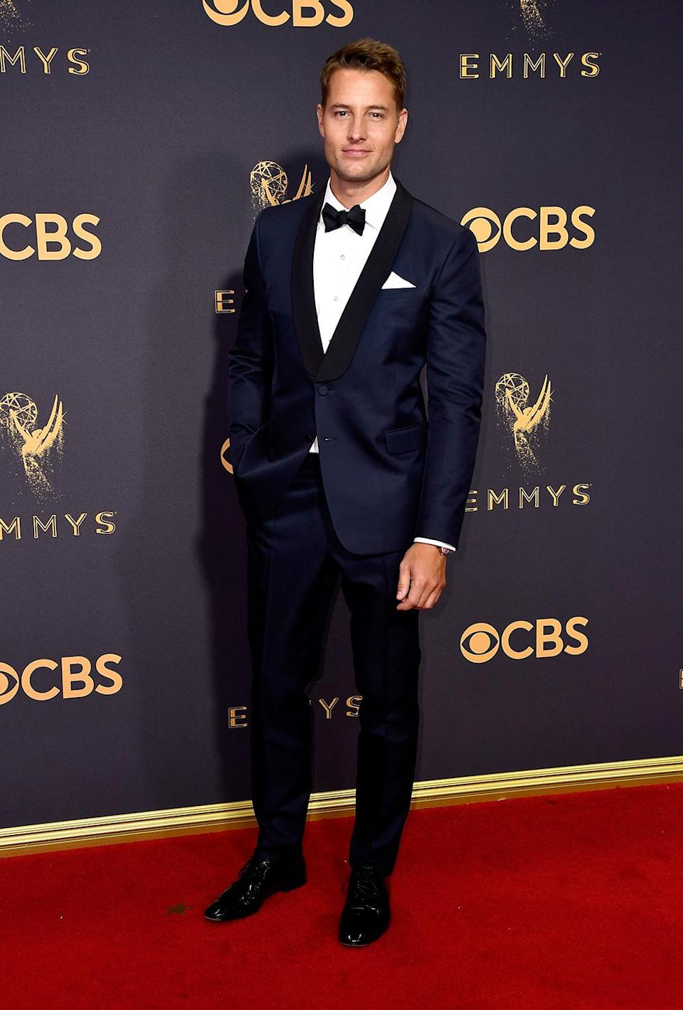 <p>Justin Hartley attends the 69th Annual Primetime Emmy Awards on September 17, 2017.<br> (Photo: Getty Images) </p>
