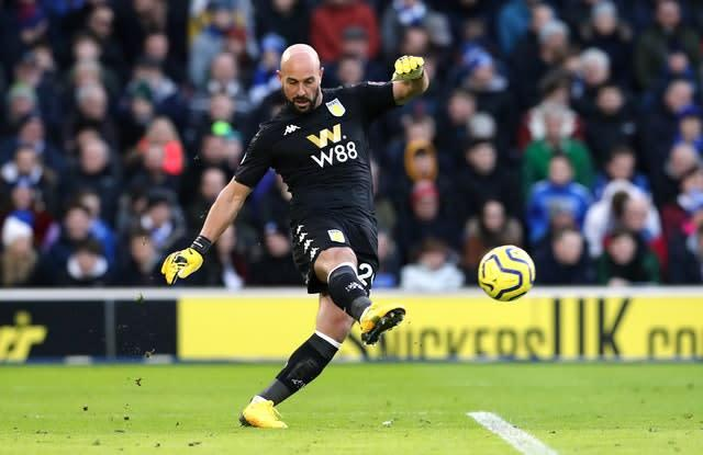 Pepe Reina is back in the Premier League with Aston Villa (Gareth Fuller/PA)