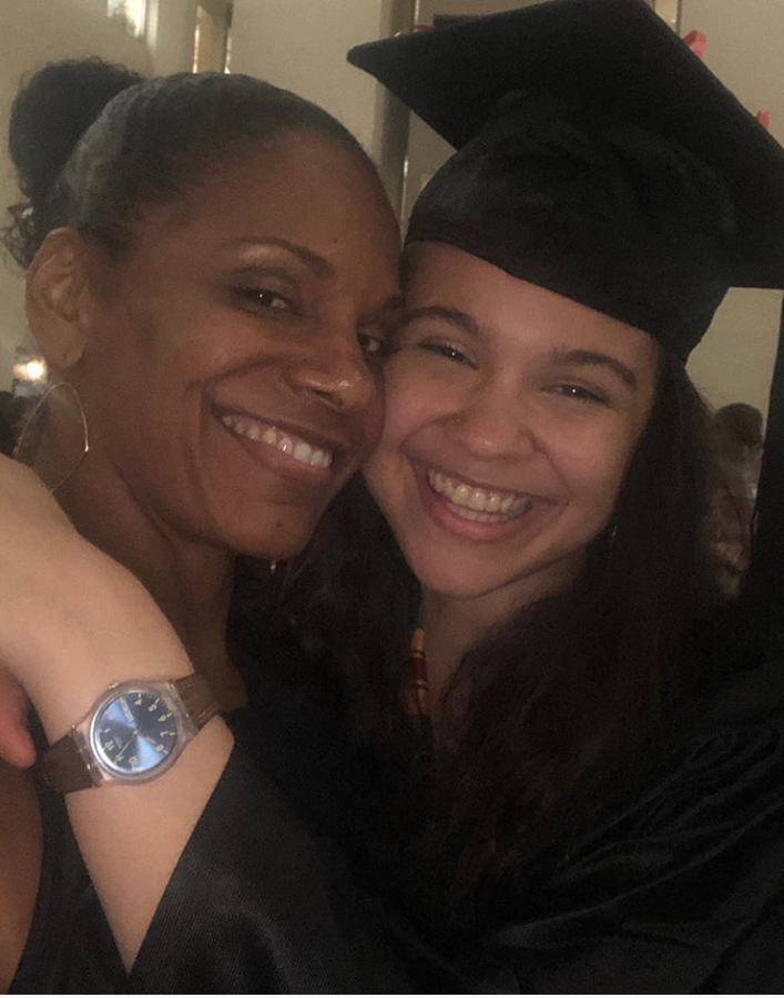 """""""Sigh. Her is graduated. ❤️❤️"""" <a href=""""https://www.instagram.com/p/BzHqFwaj44q/"""" rel=""""nofollow noopener"""" target=""""_blank"""" data-ylk=""""slk:Audra McDonald wrote"""" class=""""link rapid-noclick-resp"""">Audra McDonald wrote</a> proudly of her daughter's high school accolades."""