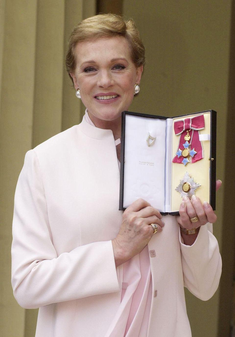<p>In 2000, Andrews received the honor of Dame Commander of the Order of the British Empire from Queen Elizabeth.</p>