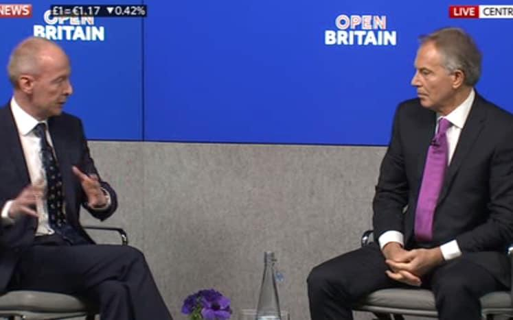 Tony Blair taking questions - Credit: SKY NEWS