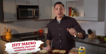 """<p><a href=""""https://www.delish.com/restaurants/videos/a53562/jeff-mauro-pork-and-mindys-sandwich-video/"""" rel=""""nofollow noopener"""" target=""""_blank"""" data-ylk=""""slk:Jeff Mauro"""" class=""""link rapid-noclick-resp"""">Jeff Mauro</a> found his niche riffing off the crew of misfit chefs on <em>The Kitchen</em>, but before his talk show days, there was <em>Sandwich King</em>. He made us realize that you can make a case for stuffing anything between two slices of bread, and it would sorta-kinda always work.</p>"""