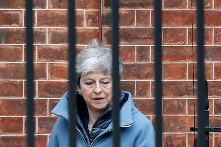 Britain's Prime Minister Theresa May has a meeting with her ministers Monday amid media reports that some of them are plotting to oust her