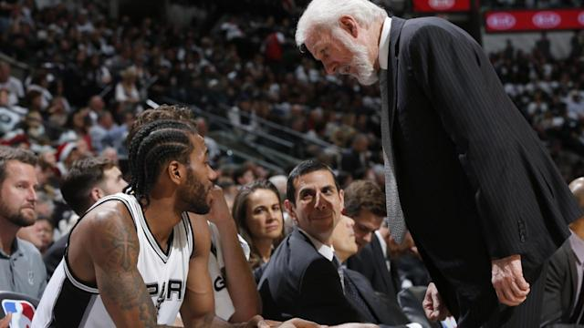 Spurs head coach Gregg Popovich traveled to Southern California to meet with Kawhi Leonard on Tuesday ahead of the 2018 NBA draft Thursday, reports ESPN and Yahoo Sports.