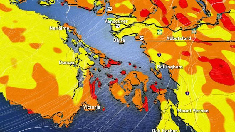 B.C.: Vicious winds threaten power outages for South Coast, Van. Island