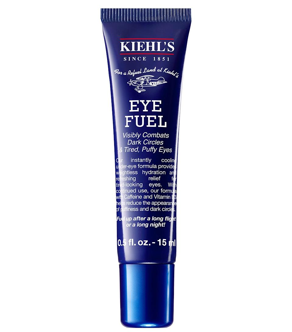 "<p>One <em>Allure</em> editor gifted this smoothing Kiehl's Eye Fuel eye cream to her boyfriend last Valentine's Day and he became obsessed with how it <a href=""https://www.allure.com/gallery/the-12-best-eye-creams?mbid=synd_yahoo_rss"" rel=""nofollow noopener"" target=""_blank"" data-ylk=""slk:reduced his dark circles"" class=""link rapid-noclick-resp"">reduced his dark circles</a> and puffy eyes overnight. Pass that insider knowledge on to the dad in your life, who probably needs it even more — hey, raising kids can be exhausting work. Infused with caffeine and vitamin B3, the fine skin under the eyes will feel cool and refreshed after application.</p> <p><strong>$24</strong> (<a href=""https://shop-links.co/1709000163173943448"" rel=""nofollow noopener"" target=""_blank"" data-ylk=""slk:Shop Now"" class=""link rapid-noclick-resp"">Shop Now</a>)</p>"