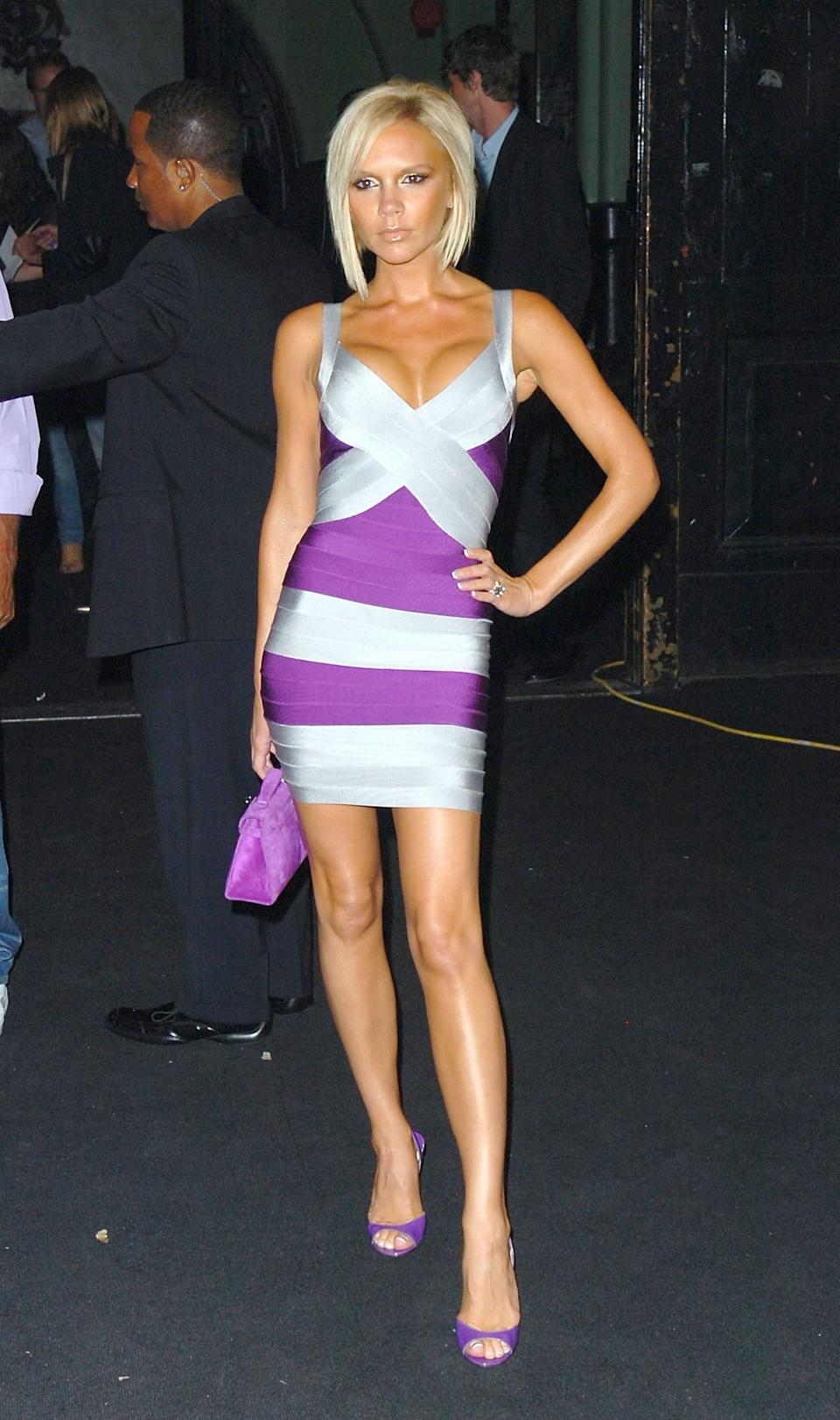 The Spice Girl (pictured in 2008) has previously favoured more form-fitted looks (Getty Images)