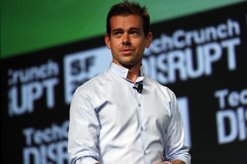 Jack Dorsey, founder of Square and Twitter, speaks on stage during day one of TechCrunch Disrupt SF 2012 event at the San Francisco Design Center Concourse in San Francisco, California September 10, 2012. REUTERS/Stephen Lam (UNITED STATES - Tags: BUSINESS SCIENCE TECHNOLOGY)