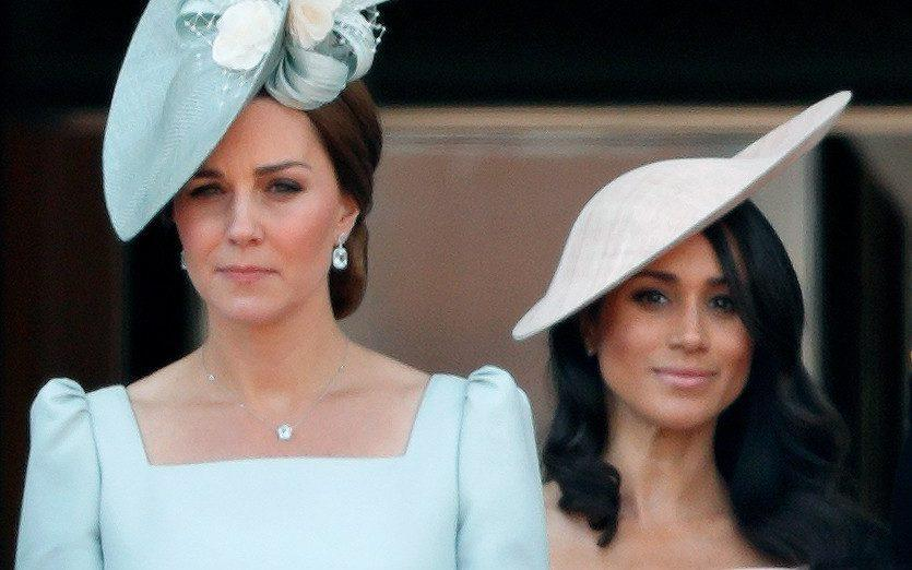 Catherine, Duchess of Cambridge and Meghan, Duchess of Sussex stand on the balcony of Buckingham Palace - Max Mumby/Indigo/Getty Images Europe