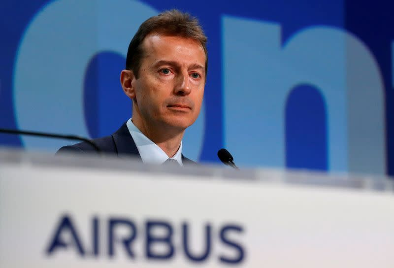 FILE PHOTO: Airbus CEO Guillaume Faury