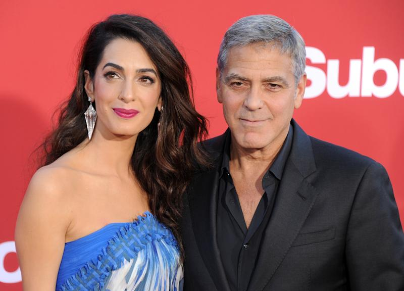 Amal and George Clooney welcomed twins Alexander and Ella in June. (Gregg DeGuire via Getty Images)
