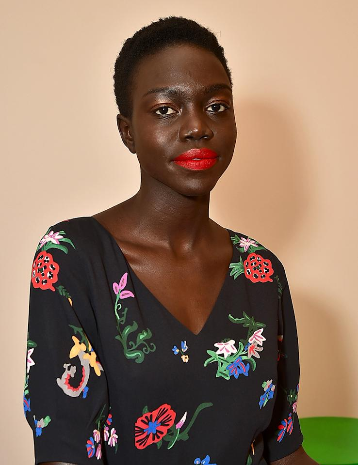 <p>At Novis, models wore bright, matte red lips with rosé eyes. NARS international lead makeup stylist Uzo mixed two unique lip shades for each model.(Photo: Getty Images) </p>