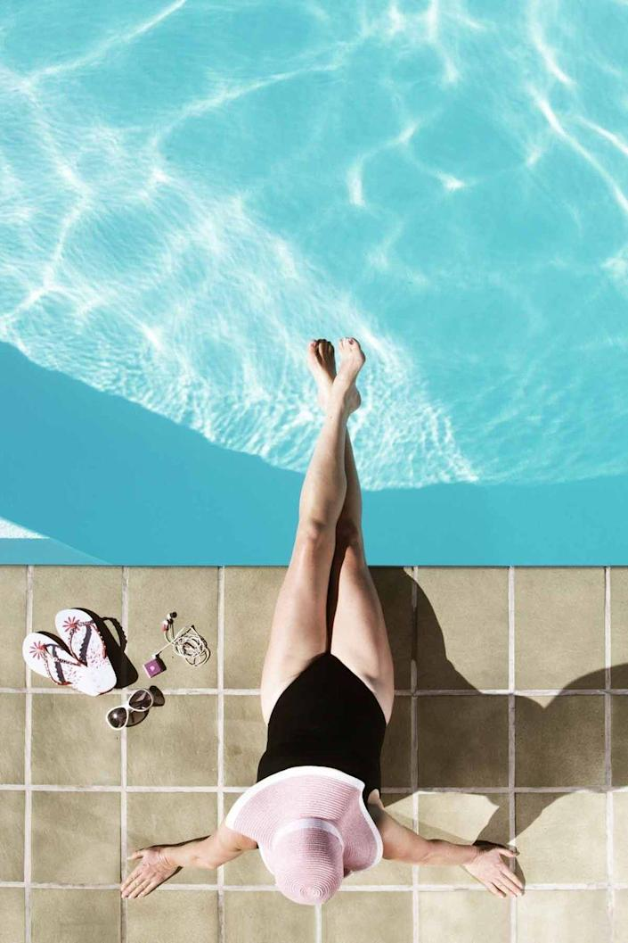 """<p>Memorial Day weekend often marks the official start of swimming pool season. Grab your flip-flops and your swimsuit, then enjoy a splash in the water. Try these <a href=""""http://www.countryliving.com/life/kids-pets/g4184/swimming-pool-games/"""" rel=""""nofollow noopener"""" target=""""_blank"""" data-ylk=""""slk:fun pool games with the family"""" class=""""link rapid-noclick-resp"""">fun pool games with the family</a>.</p>"""