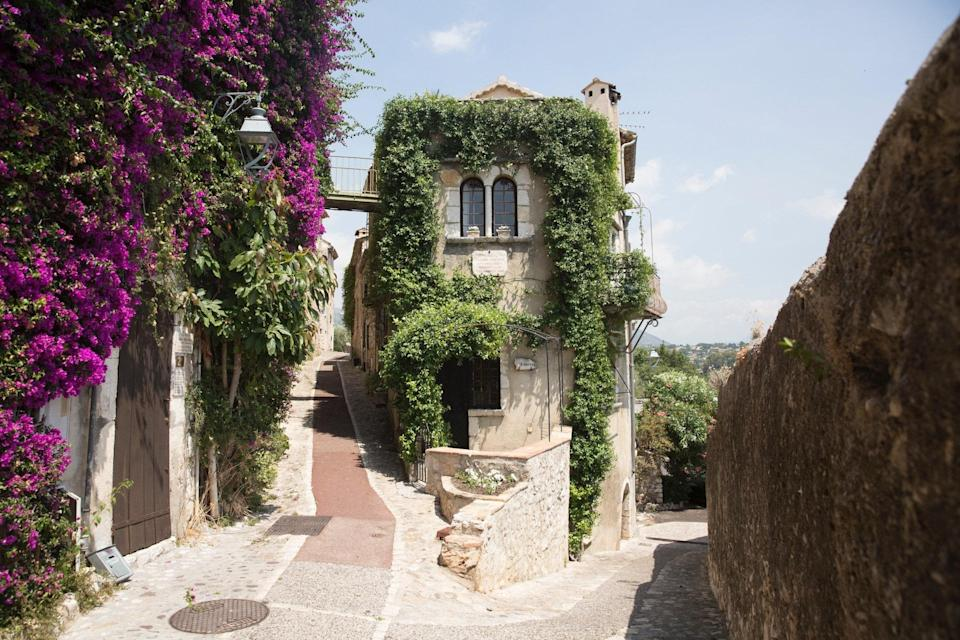 "<p>More than just spending a few nights in this two-bedroom, ivy-covered apartment in Saint-Paul-de-Vence (less than 30 minutes inland from Nice), we want to <em>live</em> here. Just page through the photos of the stunningly decorated 12th century apartment and we're sure you'll feel the same way. There's the huge open fireplace in the living room, mint green tiles in the kitchen, glamorous peach master bath, delicate antique armoires spread throughout, and a view over the surrounding hills—with glimpses of the Mediterranean—that has our collective jaw on the floor. And you get private use of the jasmine-covered terrace. It just doesn't get more idyllic that this.</p> <p><strong>Book now:</strong> <a href=""https://airbnb.pvxt.net/PvG9q"" rel=""nofollow noopener"" target=""_blank"" data-ylk=""slk:From $274 per night, airbnb.com"" class=""link rapid-noclick-resp"">From $274 per night, airbnb.com</a></p>"