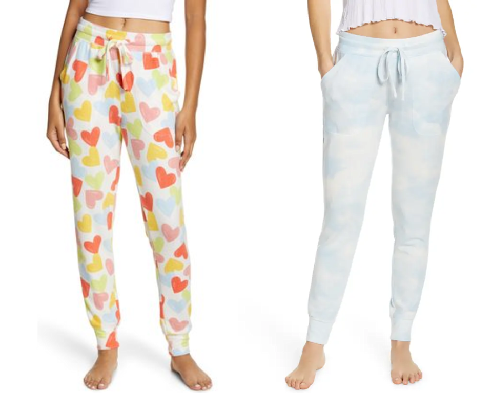 The BP. Comfy Joggers also come in fun prints like clouds and hearts. Images via Nordstrom.