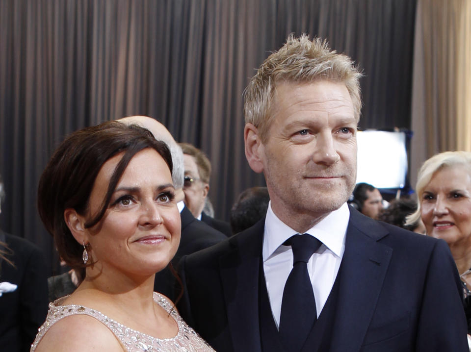 HOLLYWOOD, CA - FEBRUARY 26: Actor/Director Kenneth Branagh and Lindsay Brunnock arrive at the 84th Annual Academy Awards held at Hollywood & Highland Centre on February 26, 2012 in Hollywood, California. (Photo by Donato Sardella/WireImage)