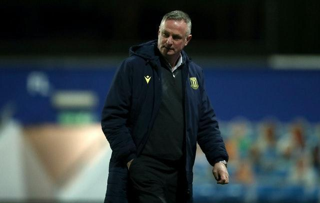 Stoke manager Michael O'Neill feared more games might have fallen victim to Covid-19