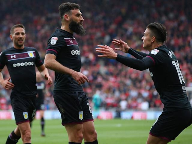Mile Jedinak's header gives Aston Villa narrow lead over Middlesbrough in Championship play-off semi-final