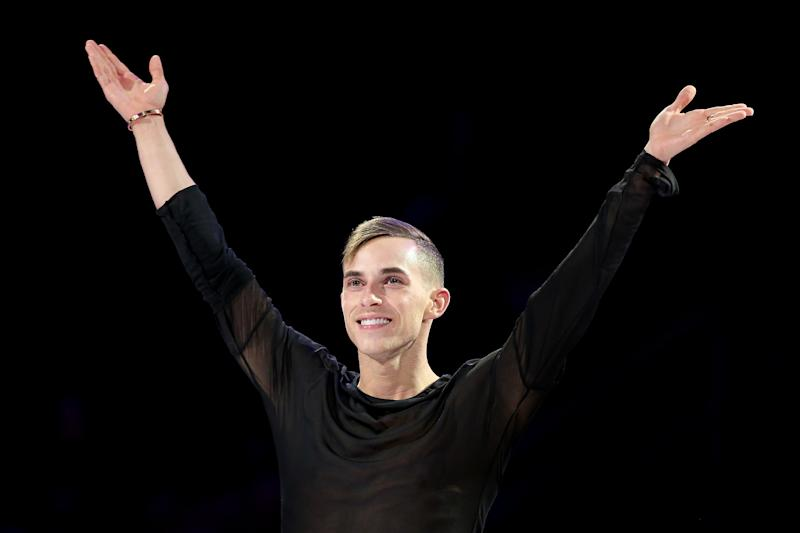 Adam Rippon of the U.S. is the first openly gay man to compete for the U.S. in the Winter Olympics. (Matthew Stockman via Getty Images)