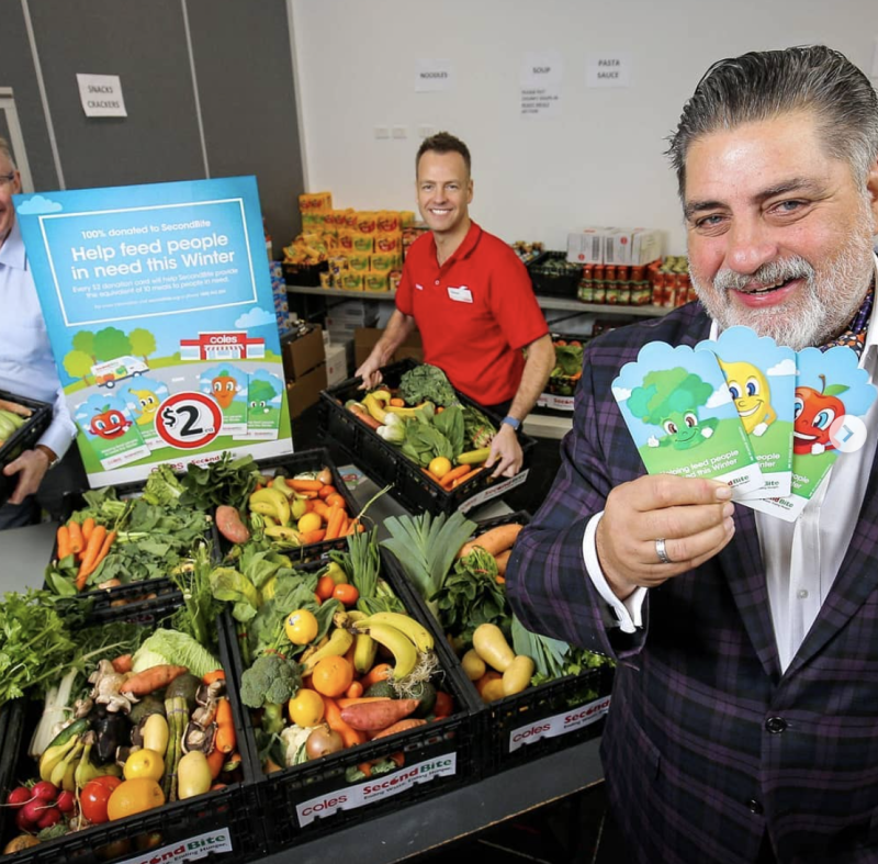 In June, Coles launched its winter appeal to support charity SecondBite with help from ex-MasterChef judge Matt Preston. Photo: Instagram/secondbiteorg.