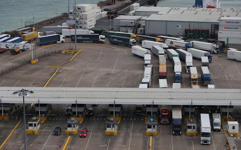 British businesses fear long queues at the Port of Dover after the end of the transition period.  - AFP