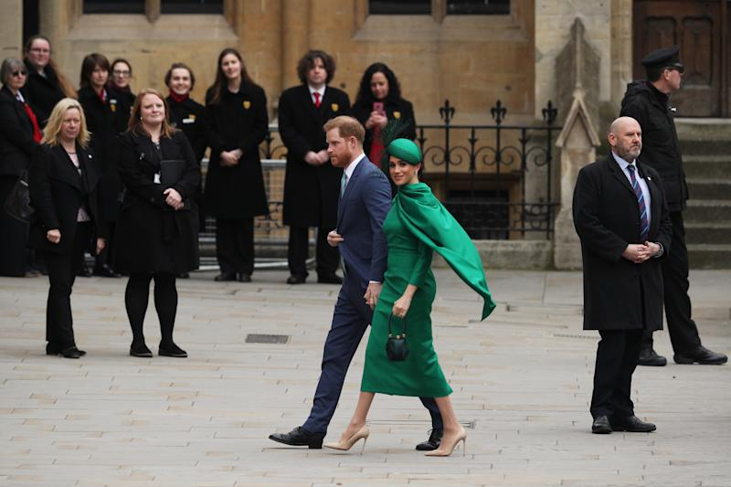 Harry und Meghan am Commonwealth Day in der Westminster Abbey (Bild: Dan Kitwood/Getty Images)