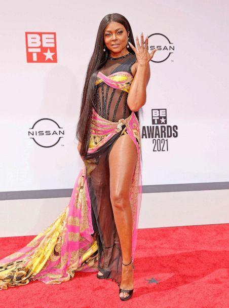 PHOTO: Host Taraji P. Henson attends the BET Awards 2021 at Microsoft Theater on June 27, 2021 in Los Angeles. (Amy Sussman/FilmMagic, via Getty Images)