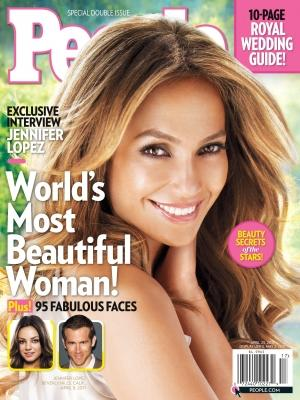 "Jennifer Lopez on the cover of People magazine's 2011 annual ""World's Most Beautiful"" issue -- People"