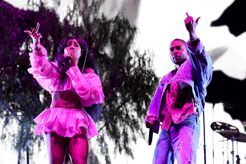 <p>SZA and Kendrick Lamar performing at Coachella</p> (Getty/Coachella)
