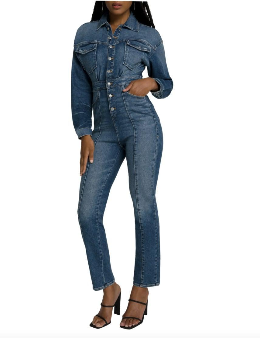 <p>Our editors are loving this <span>Good American Committed to Fit Denim Jumpsuit</span> ($189).</p>