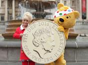 Dame Barbara Windsor with mascot Pudsey at the BBC Children in Need photocall at Trafalgar Square in central London.