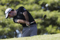 Nick Taylor, of Canada, shoots off the second tee during the third round at the Sony Open golf tournament Saturday, Jan. 16, 2021, in Honolulu. (AP Photo/Marco Garcia)