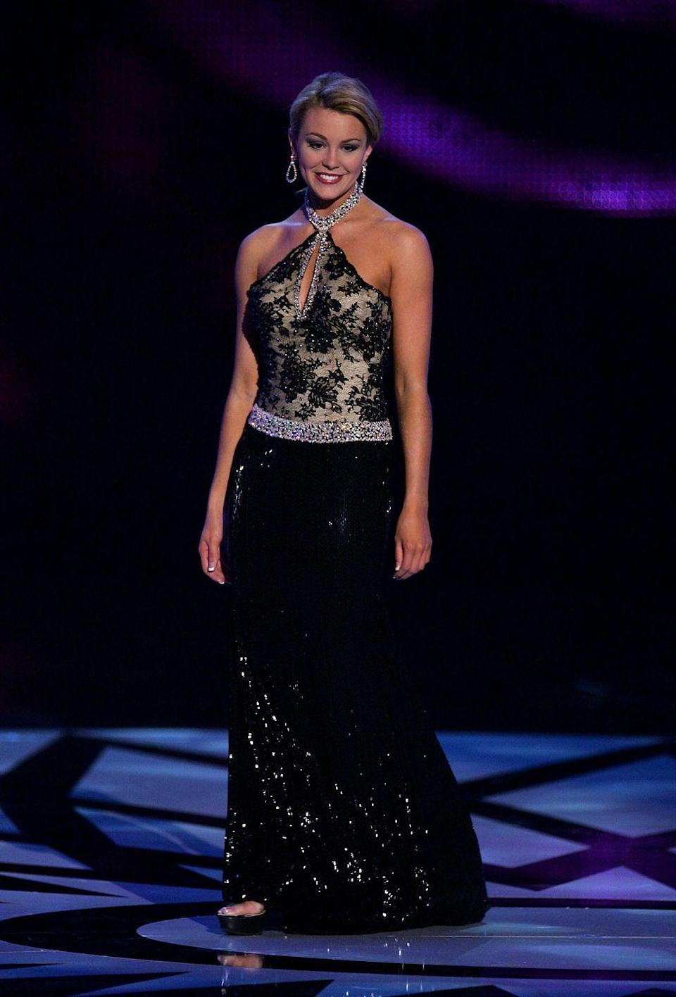 <p>Miss Oklahoma was crowned Miss America two years in a row. In 2007, it was Lauren Nelson who wowed the judges in an elaborate beaded black evening gown. </p>