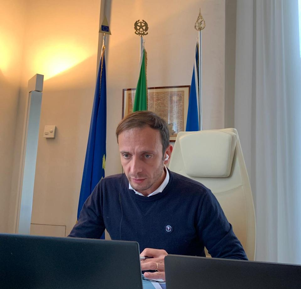 """Il tweet tratto dal profilo dell'#ECR Member @M_Fedriga spoke on #EUMigration, addressing @YlvaJohansson : """"for us, immigration priorities are clear: protecting the EU's external borders; stopping illegal immigration;   fighting human trafficking., Roma, 10 Dicembre 2020. TWITTER (Photo: Twitter ECR Group CoRANSA)"""