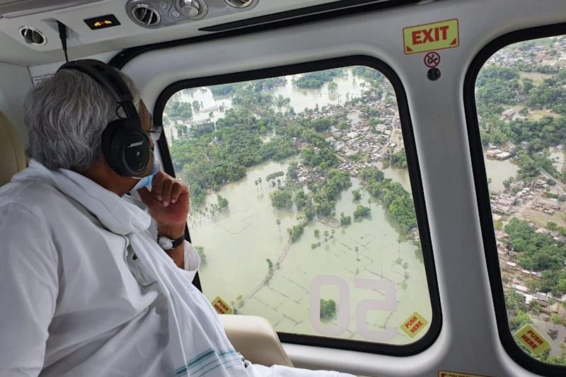 Bihar Flood Situation Worsens, More Than 66 Lakh People Affected; CM Makes Aerial Survey