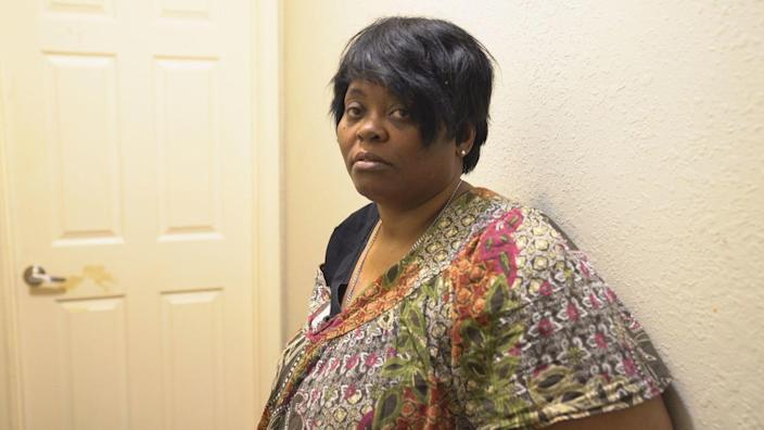 Anthony Upshaw's neighbor Linda Bouie was also evicted from her home. / Credit: CBS News