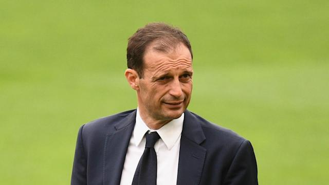 Juventus remain on track to win the treble, but coach Massimiliano Allegri wants eight more points to guarantee winning the Serie A title.