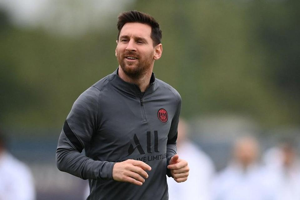 Lionel Messi has returned to PSG training ahead of the clash with Man City (AFP via Getty Images)
